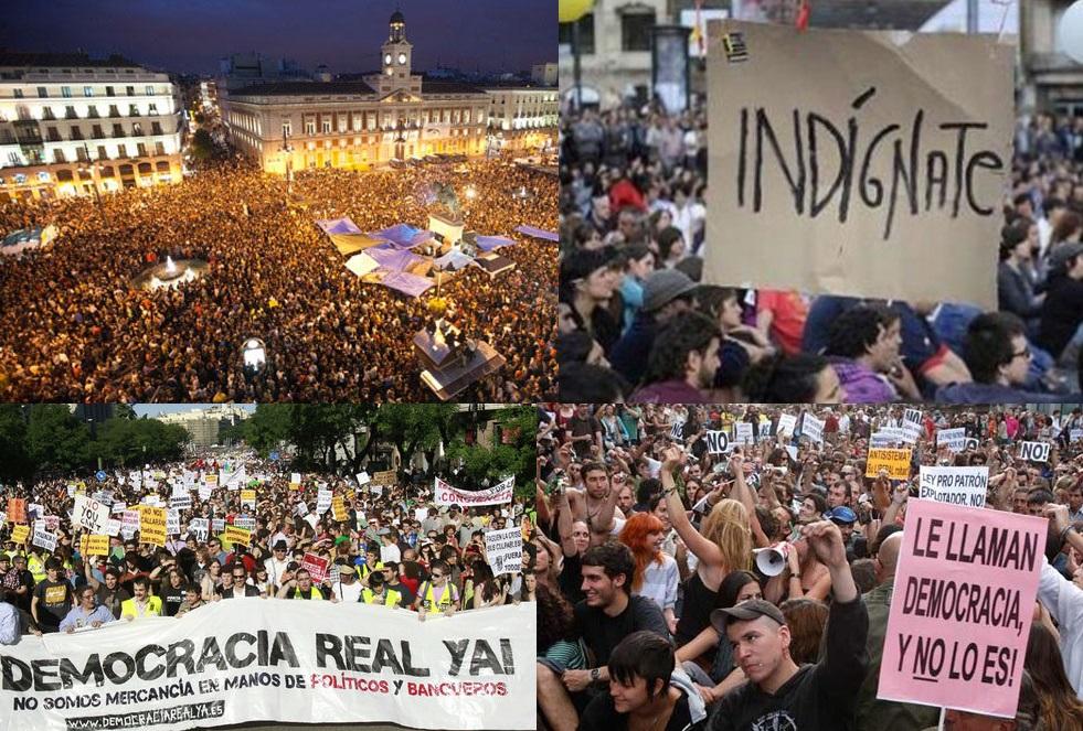 Resultado de imagen para Fotos de la manifestación de los Indignados en España